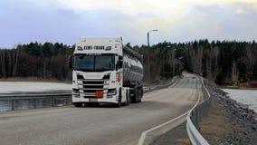 NextGeneration Scania Tanker Landscape royalty free stock photos