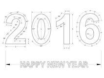 ney Plan 2016 neuen Jahres - lokalisiert Lizenzfreie Stockfotos