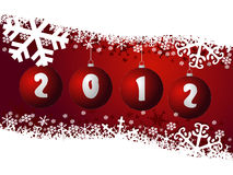 Ney year 2012. Background with christmas balls Stock Illustration