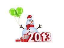 Ney year concept. New year concept.Isolated on white background.3d rendered Stock Photography