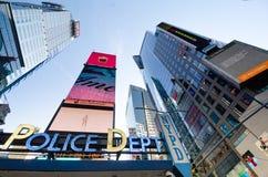 Ney York Police Dept kvadrerar tidvis, ett symbol av New York arkivbilder