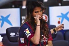 Neymar小正式介绍当巴塞罗那足球俱乐部球员 免版税库存照片