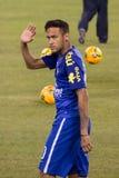 Neymar Brazil. This image shows Brazil captain and superstar Neymar during the 2014 Brazilian Global tour vs. Ecuador at MetLife stadium New Jersey on Sept.9 stock photos