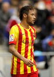 Neymar da Silva of FC Barcelona. In action during a Spanish League match against RCD Espanyol at the Estadi Cornella on March 29, 2014 in Barcelona, Spain Royalty Free Stock Photos