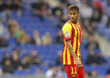 Neymar da Silva of FC Barcelona. In action during a Spanish League match against RCD Espanyol at the Estadi Cornella on March 29, 2014 in Barcelona, Spain Stock Photography