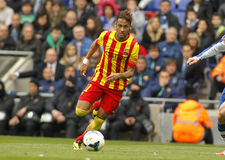 Neymar da Silva of FC Barcelona. In action during a Spanish League match against RCD Espanyol at the Estadi Cornella on March 29, 2014 in Barcelona, Spain Royalty Free Stock Images