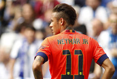 Neymar da Silva of FC Barcelona. During a Spanish League match against RCD Espanyol at the Power8 stadium on April 25, 2015 in Barcelona, Spain Stock Photo