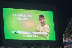 NEYMAR DANS LA COUPE DU MONDE DE LA FIFA BRÉSIL 2014 Photo libre de droits