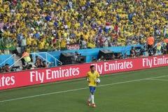 NEYMAR IN DER FUSSBALL-WELTMEISTERSCHAFT BRASILIEN 2014 Stockfotos