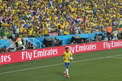 NEYMAR EN EL MUNDIAL EL BRASIL 2014 DE LA FIFA Fotos de archivo