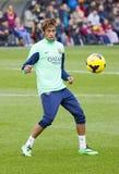 Neymar en la sesión de formación del FC Barcelona Fotos de archivo libres de regalías