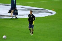Neymar, estrela mundial do futebol, FC Barcelona, Brasil fotografia de stock