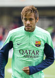 Neymar at FC Barcelona training session Stock Image