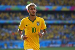 Neymar jr Coupe du monde 2014 Royalty Free Stock Photos