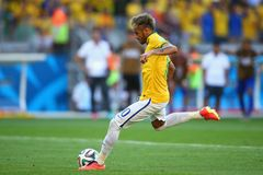 Neymar jr Coupe du monde 2014 Stock Images
