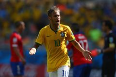 Neymar jr Coupe du monde 2014 Royalty Free Stock Images