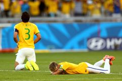 Neymar jr Coupe du monde 2014 Royalty Free Stock Image