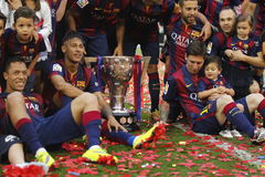 Neymar jr FC Barcelone β Λα Corogne Liga - Ησπανία Στοκ Εικόνα