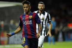 Neymar-jr. FC Barcelone Stockfotos