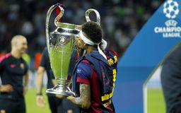 Neymar jr FC Barcelone Royaltyfria Foton