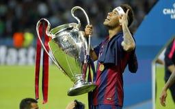 Neymar jr FC Barcelone Arkivbilder