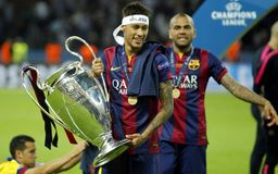 Neymar jr FC Barcelone Royaltyfria Bilder