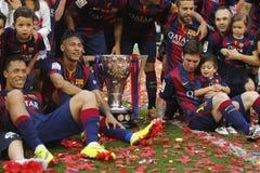 Neymar jr FC Barcelone v los angeles Corogne Liga, Espagne - Obraz Stock