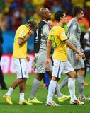 Neymar jr , Jefferson , Hernanes and Victor Coupe du monde 2014 Stock Photos