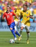 Neymar jr and Marcelo Díaz Coupe du monde 2014 Royalty Free Stock Photography