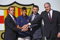 Neymar Jr Official Presentation as FC Barcelona player Royalty Free Stock Photos