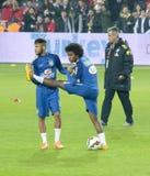 Neymar und Willian Stockfotos