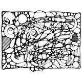 Neyrografika: black and white outline drawing Stock Photo