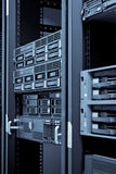 Neywork Servers in Rack with hard disks Stock Photography