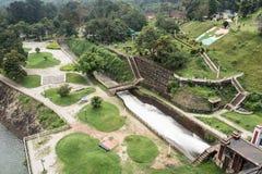 Neyyar水坝的公园 库存图片