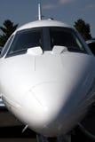 Nez d'avion à réaction en fonction Photographie stock libre de droits