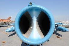 Nez d'avion de chasse de MIG Photographie stock
