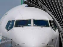 Nez d'avion de ligne photographie stock