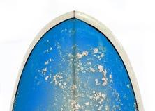Nez d'une planche de surfing bleue lumineuse Photo libre de droits