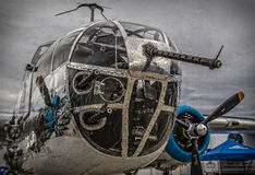 Nez de Mitchell B-25 Images libres de droits