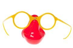 Nez et lunettes en plastique Photographie stock