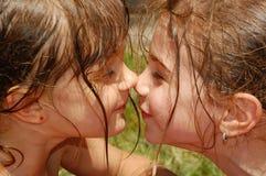 nez heureux Image stock