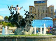 Nezalezhnosti di Maidan della fontana Immagini Stock Libere da Diritti