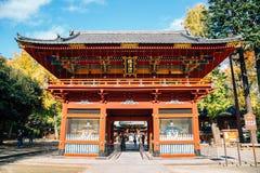 Nezu shrine at autumn in Tokyo, Japan. Tokyo, Japan - November 25, 2018 : Nezu shrine at autumn stock image