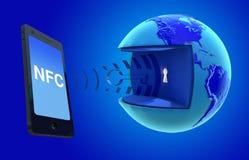 NFC -在领域通信附近 免版税图库摄影