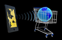 NFC -在领域通信附近 免版税库存照片