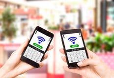 NFC - Cerca de la comunicación del campo fotografía de archivo libre de regalías