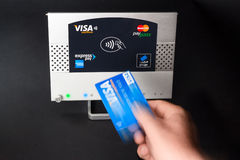 NFC - contactless payment. NFC - near field communication - contactless payment Royalty Free Stock Photography