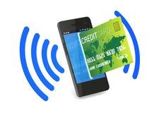 NFC Digitaces de la tarjeta de crédito stock de ilustración