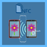 NFC flat vector icon. Stock Photography