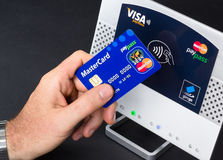 Nfc- kontaktlose Zahlung Lizenzfreie Stockbilder